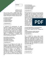 Questões -GEOGRAFIA DE RONDÔNIA - III - Prof. Adão Marcos