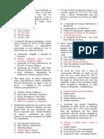 Questões - Geografia de Rondônia IV - Prof. Adão Marcos