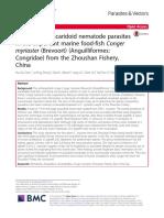 Detection of ascaridoid nematode parasites in the important marine food-fish Conger myriaster (Brevoort) (Anguilliformes
