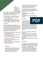 Questões - Geografia de Rondônia VI - Prof. Adão Marcos