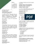 Questões - Geografia de Rondônia VII - Prof. Adão Marcos