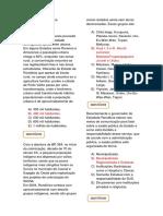 Questões - Geografia de Rondônia X - Prof. Adão Marcos