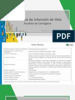 Intención de Voto a la Alcaldía de Cartagena y a la Gobernación de Bolívar
