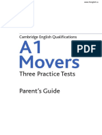Collins A1 Movers Three Practice Tests Parents Guide