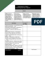 SVD critique sheet