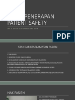 Penerapan patient safety