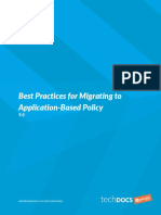 Best Practices for Migrating to Application Based Policy
