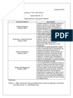 Assessment in Learning