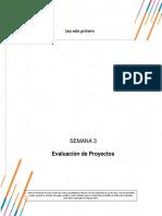 evaluacion de proyectos semana3