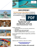 18-10-19 Taj Exotica - New Job Openings