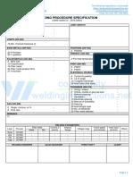 WPS format for Asme Ix - Wps - Gtaw - Overlay