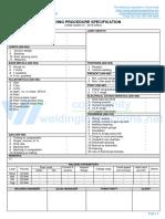 WPS format for Asme Ix - Wps - Gtaw