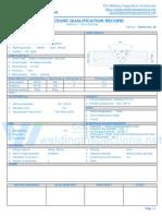 WPS format for AWS D1.1 - PQR - SMAW
