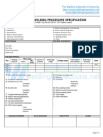WPS format for ISO 15614-1 pWPS