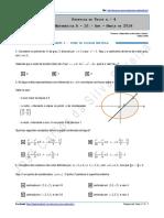 Proposta de Teste n.º 4 - Matemática a - 10.º Ano - Março de 2016