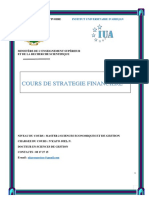 Cours de Strategie Fin M2S1