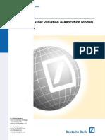 Asset Valuation Allocation Models-Deutsche Bank (2001)