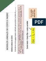 Modelos Lineales de Costo e Ingreso