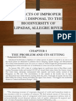 Effects of Improper Waste Disposal to the Biodiversity of River