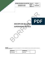 Perfil Del Supervisor de Mantenimiento Electrico