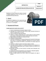 Manual de Lavado Molino de Bolas