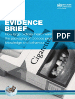 How Large Pictorial Health Warnings, Evidence Brief Eng