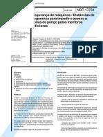 NBR 13758 - Segurança de Máquinas - Distâncias de Segurança