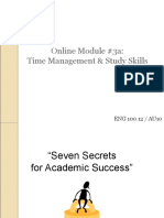 On-line_Module_#3a_Time_Managment_&_Study_Skills.ppt