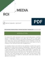 Social Media Roi Benchmark Report