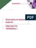 Asesor Externo Proyecto Terminal I