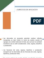Ejercicios de aplicación Microeconomía