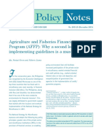 Agricultural and Fisheries Financing Program (AFFP)