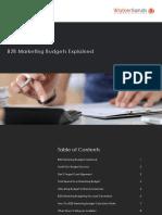Walker Sands B2B Marketing Budgets Explained