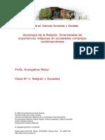 Clase 1 Sociologia de La Religion