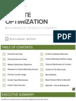 Website Optimization Benchmark Report