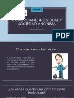 Presentación comerciante individual y sociedad anónima