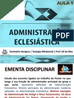 administração  eclesiastica aula 01
