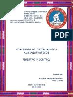 Compendio Instrumentos de Control Administrativo
