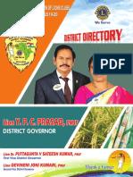 Ln YPC Prasad Lions District 316D Directory 2019-20