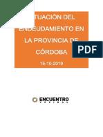 Deuda Córdoba 15-10-2019