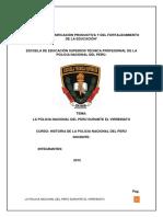 La Policia Nacional Del Perú Durante El Virreinato