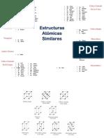 Estructuras atomicas similares