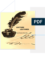 Lecture Lectures