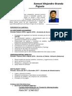 Curriculum 2019 Samuel Granda