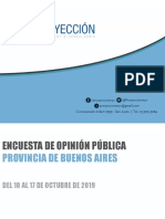 PBA - informe de opinión pública Octubre 2019