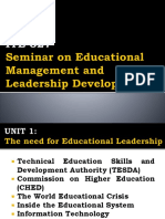 The Need for Educational Leadership in the Philippines