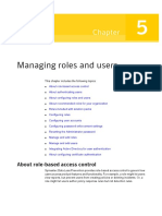 Managing Roles and Users