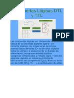 Compuertas Lógicas DTL y TTL