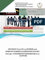 Norme Algérienne d'Audit 560 Événements Postérieurs