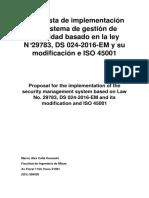 Propuesta de Implementación Del Sistema de Gestión de Seguridad Basado en La Ley N